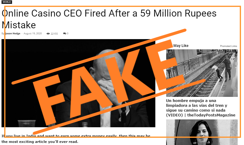 CEO FIRED FAKE NEWS